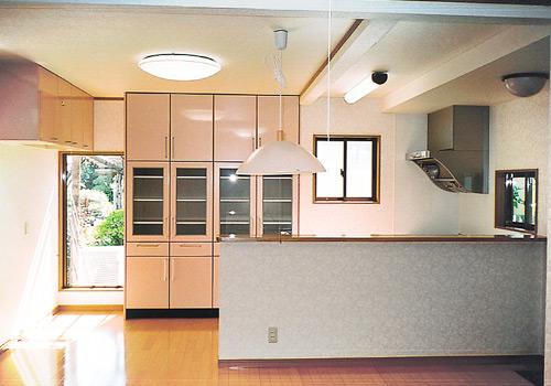 キッチンルームのリフォーム